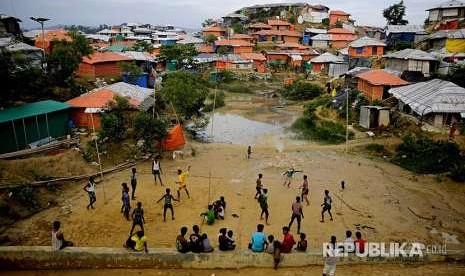 Permukiman Rohingya di Bangladesh Hampir Selesai Dibangun