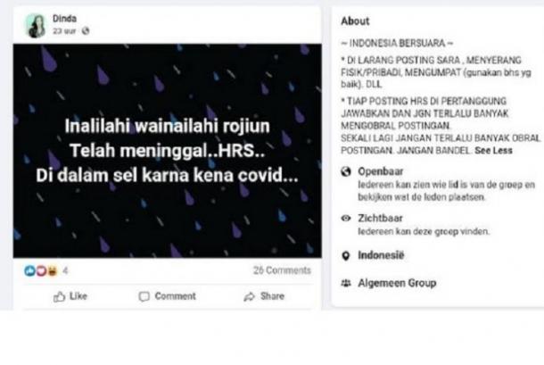Ini Kabar Terbaru Habib Rizieq dari Rutan Polda Metro Jaya