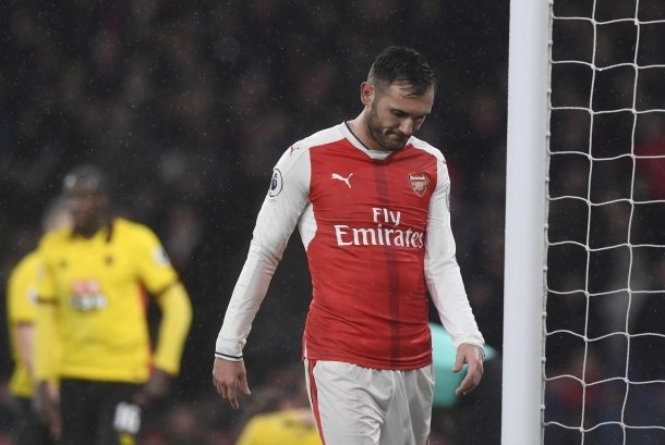 Striker Arsenal, Lucas Perez.