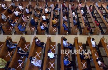 Gereja Katedral Denpasar Dibuka dengan Protokol Kesehatan