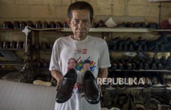 In Picture: Industri Sepatu Terimbas Pandemi Covid-19