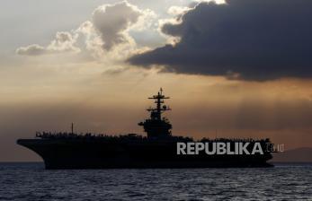In Picture: Ratusan ABK Kapal Induk Amerika Ini Positif Corona