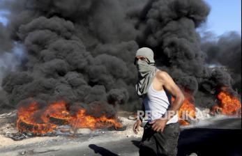 In Picture: Warga Nablus Protes Perluasan Pos Pengamanan Israel