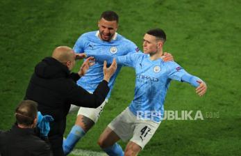 In Picture: Manchester City Perkasa, Kembali Bekap Dortmund 2-1