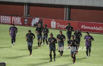 In Picture: Latihan Persija Jakarta Jelang Hadapi Persib Bandung