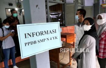 In Picture: PPDB Jalur Mutu di SMP Negeri 4 Yogyakarta