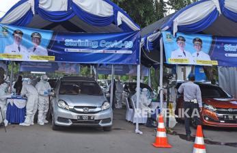 <em>New Normal</em>, Pusat Keramaian di Serang Diterjunkan TNI-Polri