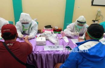 Pemilih di Jabar akan di Tes Rapid Sebelum Mencoblos