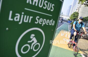 Tiga Konsep Jalur Sepeda di Jakarta Menurut MTI