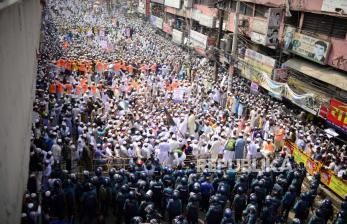 In Picture: Demo Ribuan Warga Bangladesh Serukan Boikot Produk Prancis