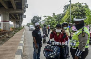 PSBB, Petugas Keamanan Jaga Wilayah Perbatasan ke Jakarta
