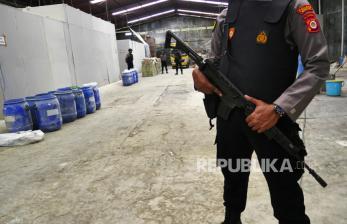 In Picture: Pengungkapan Mega Pabrik Ilegal Obat Keras di Bantul (1)