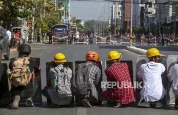 Usai Pidato Kyaw, Aparat Myanmar Kian Agresif ke Demonstran