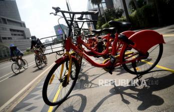 In Picture: Layanan Jasa Sewa Sepeda Gowes di Jakarta