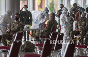 In Picture: Ikuti Latihan Garuda Shield, Tentara Amerika Jalani Tes PCR