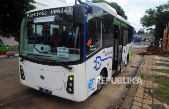 In Picture: Tahun 2045, Target Populasi Bus Listrik Capai 100 Persen