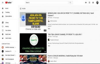 Mengapa Akun Front TV Milik FPI diYoutubeHilang?