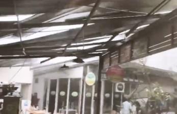 Angin Kencang Terjang Kawasan Kuliner di Jakarta Selatan