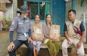 BWA Salurkan 150 Paket Sembako di Kabupaten Lebak