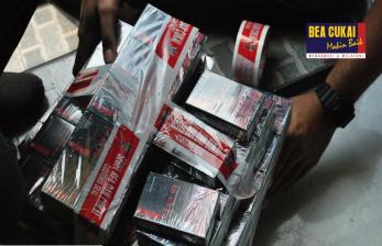Bea Cukai Jatim Gagalkan Peredaran Rokok Ilegal