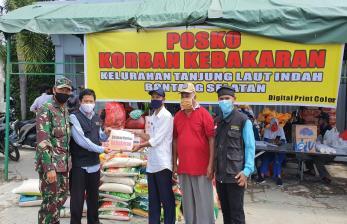 BMH Kirim Bantuan untuk Korban Kebakaran di Bontang