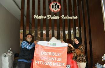 BMH Kirim Bantuan APD ke IDI Serang