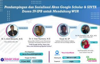Dosen SV IPB University Dapat Pelatihan Google Scholar