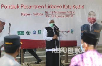 Khofifah Apresiasi Penanganan Covid-19 di Kota Kediri