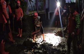 Hujan Deras, Jalan Perumahan Sukabumi Terendam Banjir