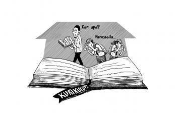 Karikatur Opini 'Mencari Pancasila'