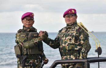 TNI AL Gelar Pasukan Antisipasi Ancaman Dalam Negeri