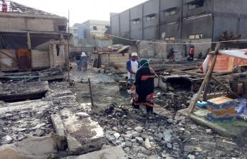 Derita Korban Kebakaran Kapuk Muara di Hari Kemenangan