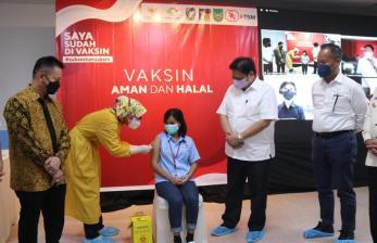 Airlangga: Vaksinasi di Kepulauan Riau Sudah 82,77 Persen