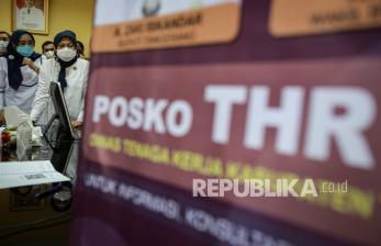 In Picture:  Menaker Tinjau Posko Pengaduan THR di Kabupaten Tangerang