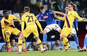 Laga Barcelona Vs Napoli Tetapi di Camp Nou