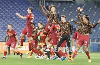 In Picture: AS Roma Menang 2-0 Lawan Lazio