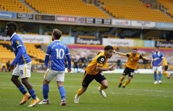 Gol Menit Terakhir Bawa Wolves Tekuk 10 Pemain Brighton