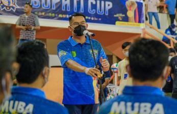 Muba Gelar Kejurda Turnamen Voli Bupati Cup 2021