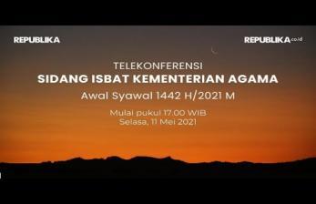 Menag Putuskan 1 Syawal Jatuh pada 13 Mei