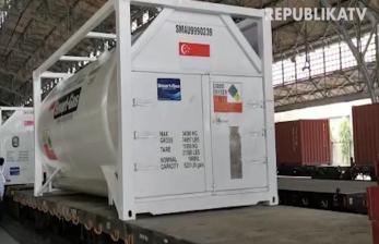 PT KAI Gratiskan Pengiriman 80 Ton Oksigen ke Surabaya