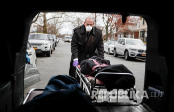 In Picture: Imbas Corona, Penyedia Jasa Pemakaman di New York Kewalahan