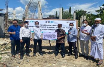 Terima Bantuan, Masjid di Mamuju Akhirnya Dipugar