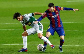 Messi Sumbang Dua Gol, Barcelona Bekap Elche 3-0