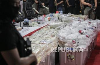 In Picture: Polres Metro Jakarta Pusat Ungkap Sindikat Narkoba