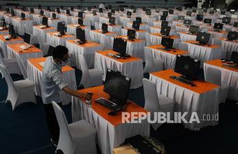 In Picture: SKD Calon ASN di GOR Pancasila Surabaya