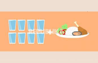 Ingat Pola 8 Gelas Sehari dan Makanan Sehat Selama Puasa