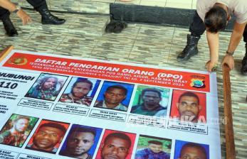 In Picture: Poster DPO Terduga Penyerangan Terhadap Prajurit TNI
