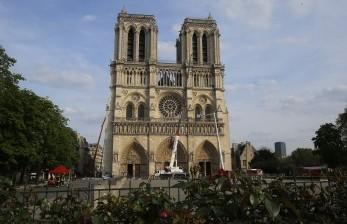 Greenpeace Gantung Spanduk Perubahan Iklim di Notre Dame
