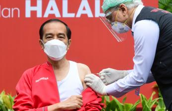 Vaksinasi Tahap Dua, Jokowi: Tidak Terasa