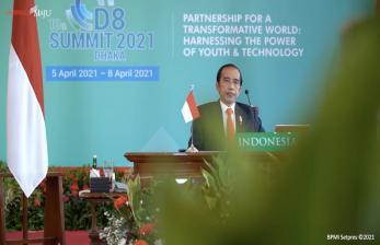 Di Depan Merkel, Jokowi Pamer Turunnya Kasus Covid-19